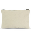 Medium Zip Pouch in Fair Trade + GOTS Organic Canvas
