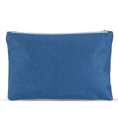 Women-Made Medium Zip Pouch in Denim