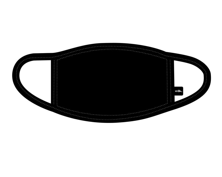 CUSTOM Non-medical Reusable Face Mask - Black