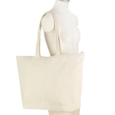 The Commuter Tote in Fair Trade + GOTS Organic Cotton