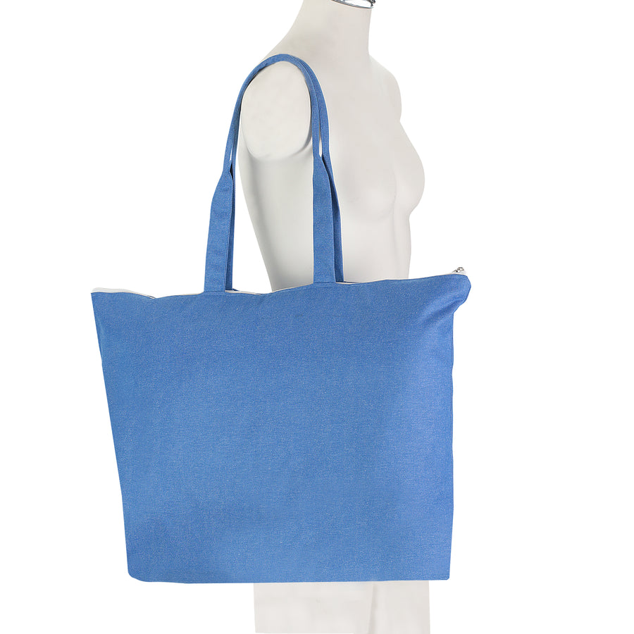Women-Made Commuter Tote in Denim