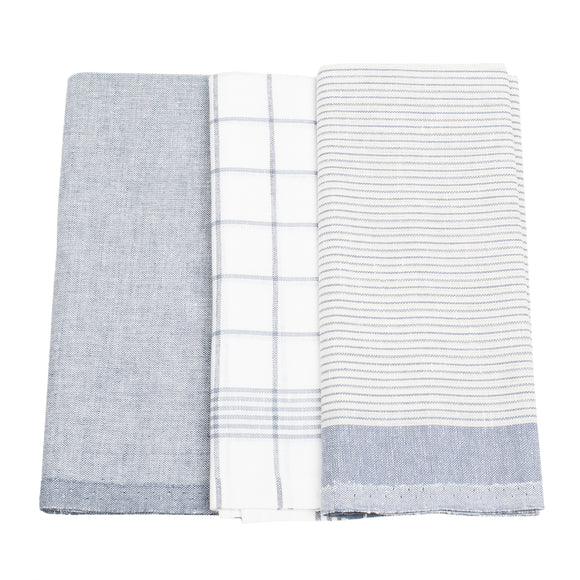 Linen Kitchen Towels Set (3 pcs.)