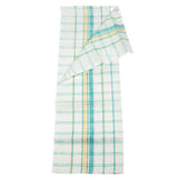 Linen Kitchen Towel - 100% Linen - White With Colorful Stripes