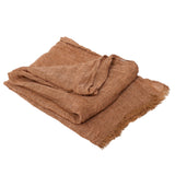 Copy of 100% Linen Scarf - Pinkish Brown