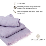 100% Linen Scarf - Light Purple