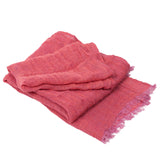 100% Linen Scarf - Raspberry Red