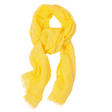 100% Linen Scarf - Bright Yellow