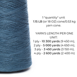 100% Linen Yarn - Denim Blue