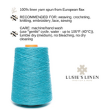 100% Linen Yarn - Bright Turquoise