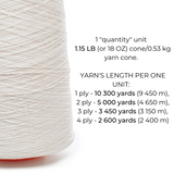 100% Linen Yarn - Bright White