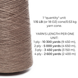 100% Linen Yarn - Brownish Gray