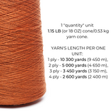 100% Linen Yarn - Brownish Orange