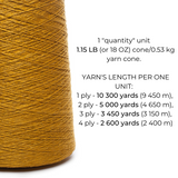 100% Linen Yarn - Golden Ocher