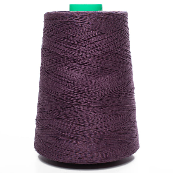 100% Linen Yarn - Dark Purple (Eggplant Color)