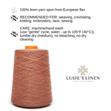100% Linen Yarn - Peach Color