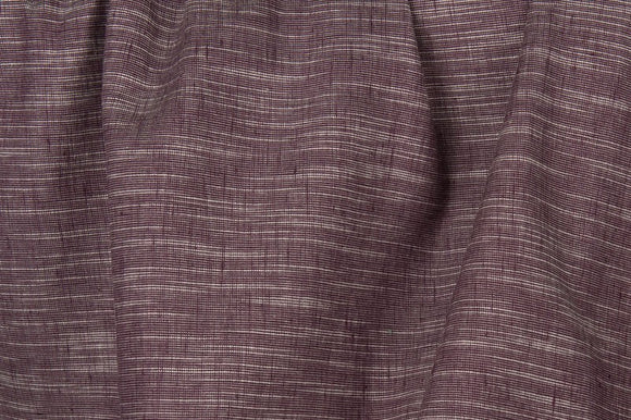 Linen Cotton Fabric in Variegated With Purple