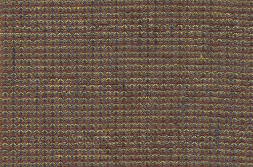 Linen Fabric With Brown and Small Ornament Checks