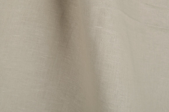 Linen Fabric With Light Yellowish Grey Canvas