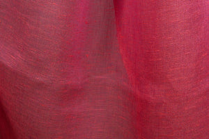 Linen Fabric With Lightweight Raspberry Pure Red