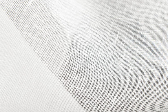Linen Fabric in Transparent Off-white Color