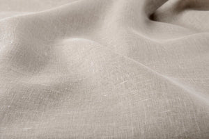 Linen Fabric in Transparent Pure Grey