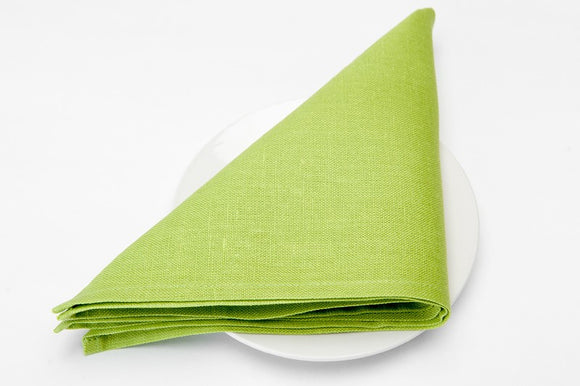 Linen Napkin in Bright Lime Green Color