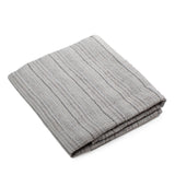 Linen Bath Towel - 100% Linen - Gray - Striped