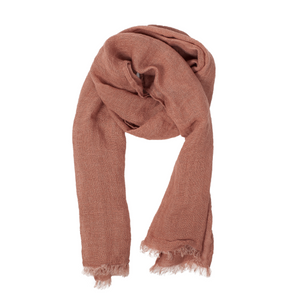 "100% Linen Scarf - ""Clay"" Brown"