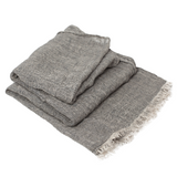100% Linen Scarf - Dark Gray