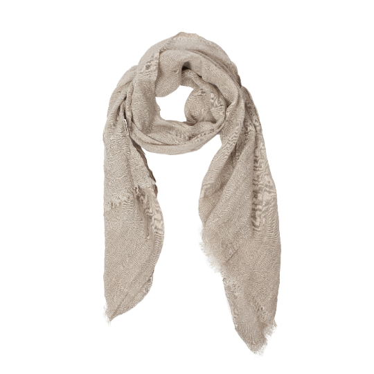 100% Linen Scarf - Dark Gray - Natural Color - Not Dyed