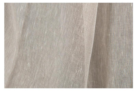 Transparent LINEN Fabric - made in Northern Europe - Light Gray - Light Weight