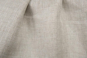 "6.05 oz./yd Pure flax Linen Fabric by the yard by the yard - made in Europe - Medium Weight - Width 60"" (150 cm) - Gray herringbone"