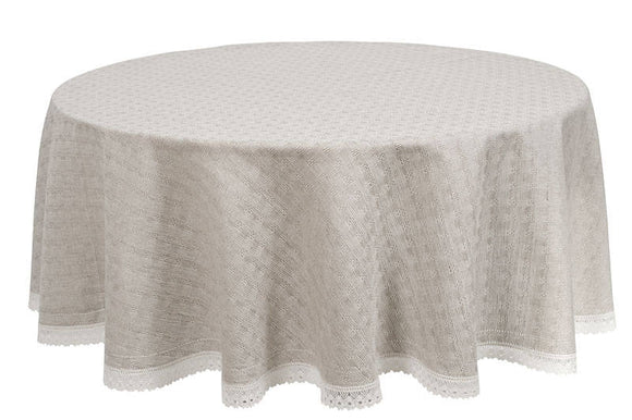 Lace Tablecloth | Linen | Grey Tablecloth | Round Tablecloth | Long Drop Tablecloth | Business Tablecloth | Tablecloth | Burlap Tablecloth