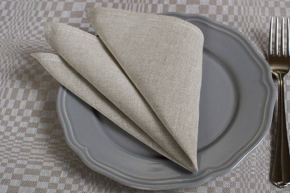 Rustic Napkins | Linen Napkins | Table Linens | Cloth Napkins Bulk | Gray Flax Napkins | Linen Cotton Napkins | Dinner Napkins | Natural