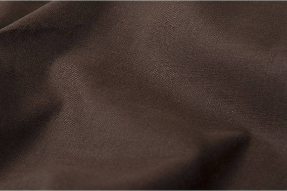 Brown Linen-Cotton Fabric by the yard - European linen - Width 60