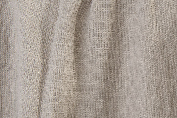 6.7 oz./yd LINEN Fabric - European made - gray - SOFTENED - width 51