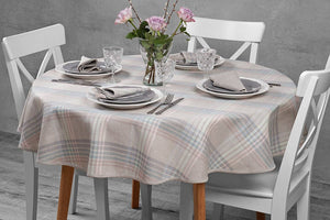 Linen Tablecloth | Table Linens | Table Cover | Linen | Oval Tablecloth |  Striped Tablecloth