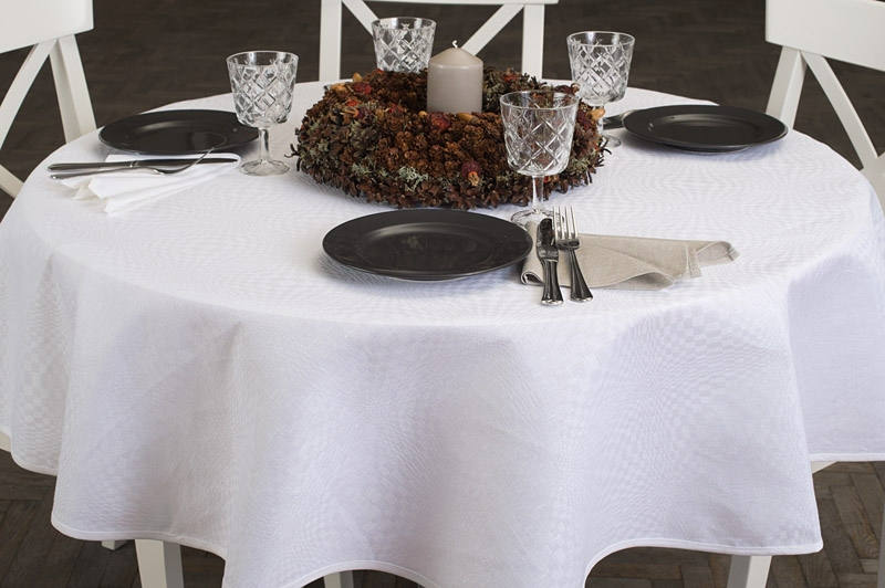 Round Tablecloth | White Linen Tablecloth | Tablecloth | Table Linens |  Table Cover | Linen ...