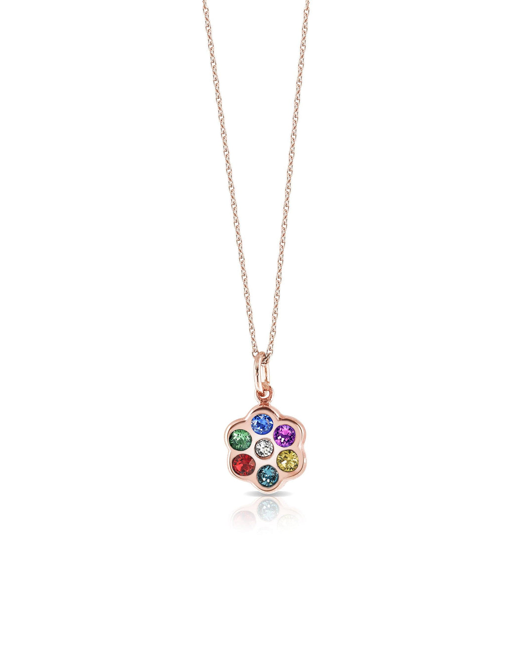 Capri Flower Necklace - Rose Gold pendant SBS Capri