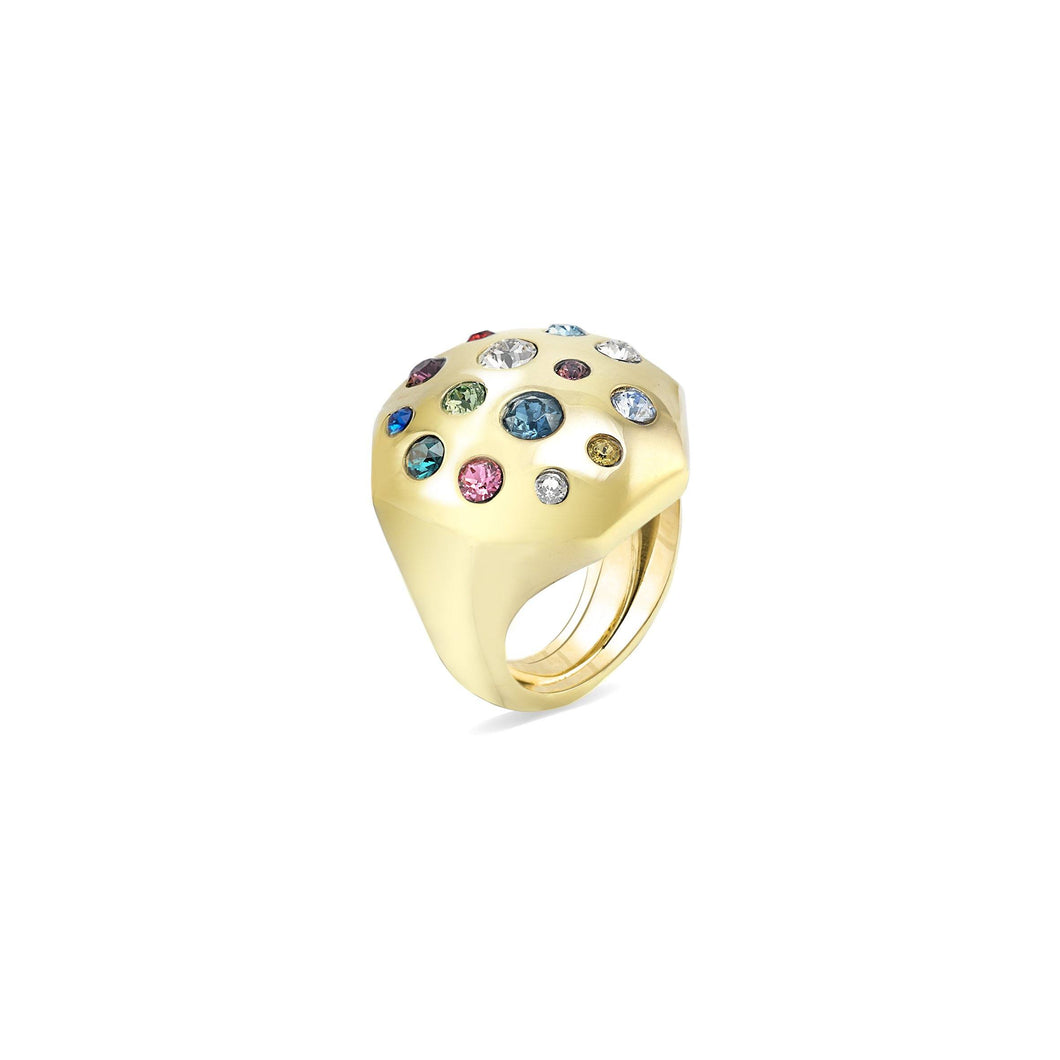 Pumped Octagonal Ring ring SBS Capri 18 Kt Gold