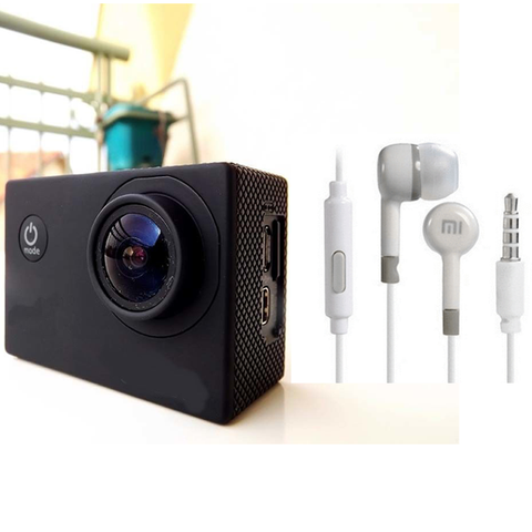 Advanto Hd Action Camera + Free EarPhone with Remote and Mic