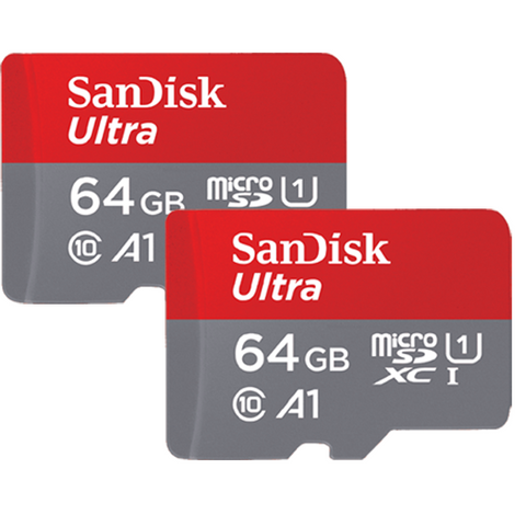 Combo of SanDisk Ultra 64GB micro SD Memory Card