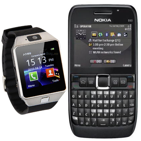 Nokia E63 with Smart Watch