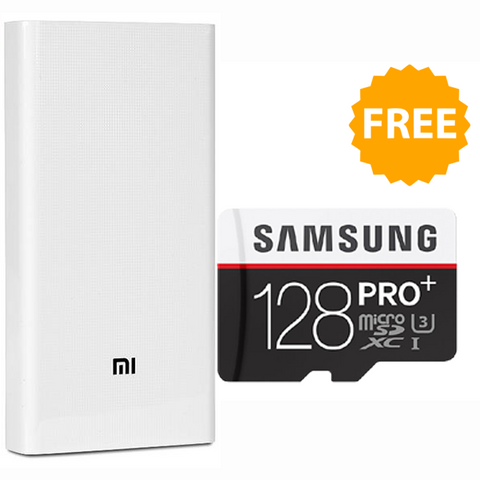 Buy Mi 20000mAh Powerbank and Get Samsung 128GB Memory Card Free