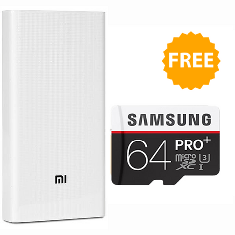 Buy Mi 20000mAh Powerbank and Get Samsung 64GB Memory Card Free