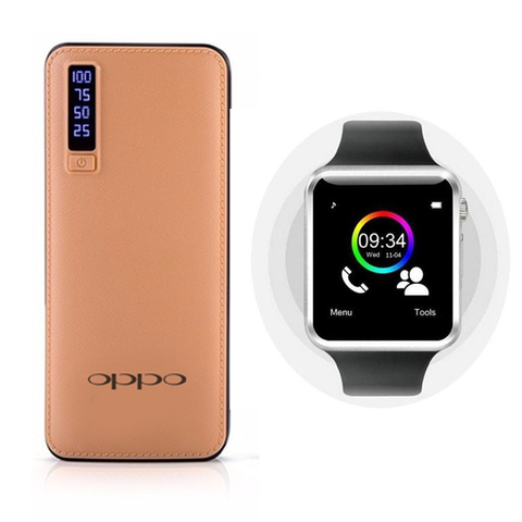 Oppo 20800mAh Powerbank + TYPHOON Smartwatch