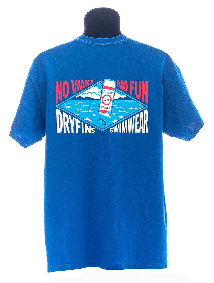 Adult Short Sleeve No-Wake in Blue