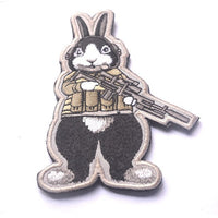 """The hunter becomes the hunted"" Rabbit Patch Embroidered Badge"