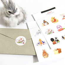 Load image into Gallery viewer, Beautiful funny bunny sticker set
