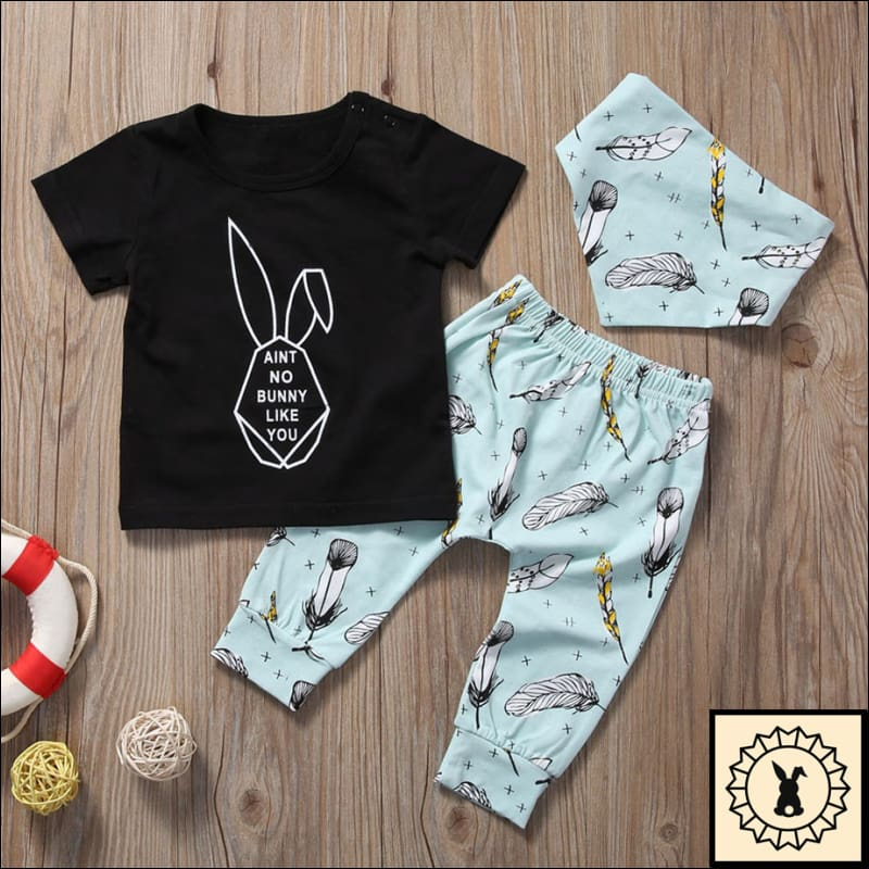 3Pc T-Shirt Pants And Scarf Set (6M-24M) 6M